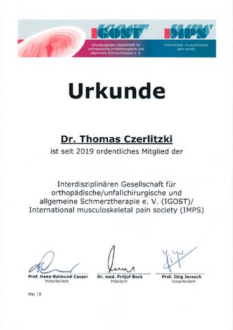 IGOST Zertifizierung Dr. Czerlitzki